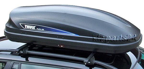 thule pacific 200 black dachbox 175x82cm 460l frei haus ebay. Black Bedroom Furniture Sets. Home Design Ideas