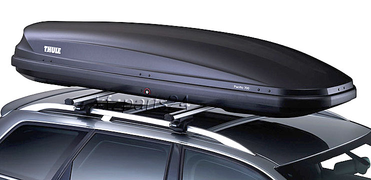 THULE Dachbox Pacific 700 DS AeroSkin anthrazit 232x70cm 420 Lit