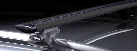 thule rapid railing 757 961b wingbar black alu. Black Bedroom Furniture Sets. Home Design Ideas