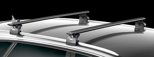 thule wingbar black dachtr ger vw passat variant b8 753. Black Bedroom Furniture Sets. Home Design Ideas