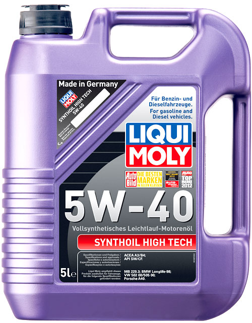 liqui moly synthoil high tech 5w 40 5 liter kanister. Black Bedroom Furniture Sets. Home Design Ideas