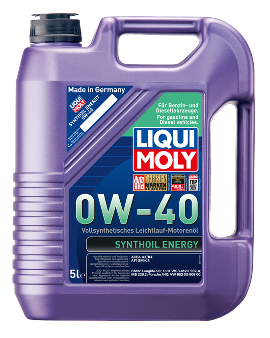 liqui moly motor l synthoil energy 0w 40 5 liter kanister. Black Bedroom Furniture Sets. Home Design Ideas