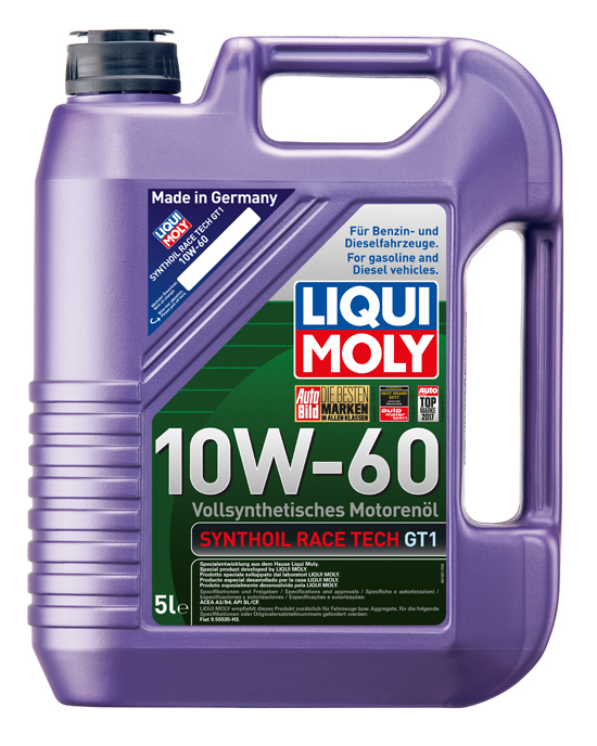 liqui moly synthoil race tech gt1 motor l 10w 60 5 liter. Black Bedroom Furniture Sets. Home Design Ideas