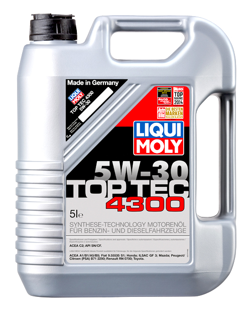 liqui moly motor l top tec 4300 5w 30 5 liter. Black Bedroom Furniture Sets. Home Design Ideas