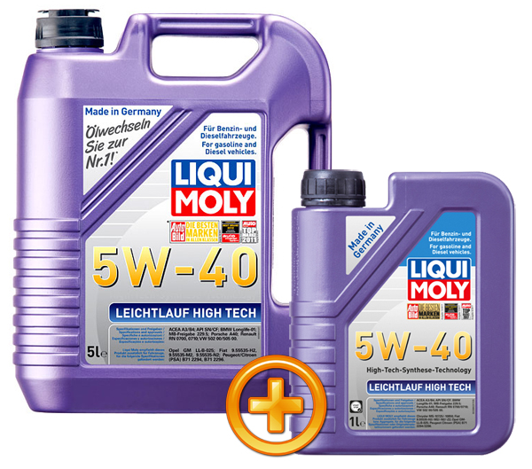 liqui moly motor l leichtlauf high tech 5w 40 6 liter. Black Bedroom Furniture Sets. Home Design Ideas