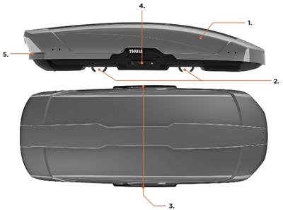 thule dachbox motion xt xl titan 215x91 5x44cm 500 liter. Black Bedroom Furniture Sets. Home Design Ideas